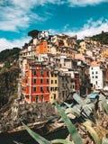Fantastyczni domy Cinque terre zdjęcie royalty free