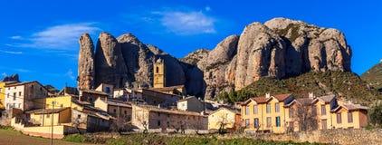Fantastyczni skaliści krajobrazy - Malos De Aguero Zdjęcie Royalty Free