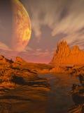 fantastycznonaukowa pustynia Obraz Royalty Free