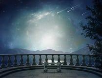 Fantastyczny balkon Zdjęcia Royalty Free