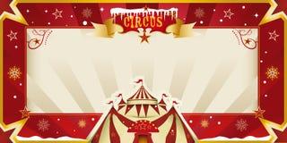 Fantastyczny boże narodzenie cyrka zaproszenie. Zdjęcia Royalty Free