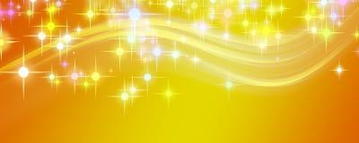 Fantastyczny Bożych Narodzeń fala projekt z rozjarzonymi gwiazdami Zdjęcia Royalty Free