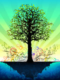 fantastyczny drzewo ilustracja wektor