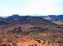 Fantastyczny krajobraz w Egipskiej piasek pustyni Zdjęcie Stock