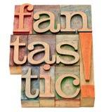 Fantastyczny słowo abstrakt w drewnianym typ Zdjęcie Stock