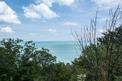 Fantastyczny widok jeziorny Balaton, Węgry zdjęcie royalty free