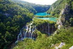 Fantastyczny widok w Plitvice jezior parku narodowym Zdjęcia Stock