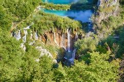 Fantastyczny widok w Plitvice jezior parku narodowym Zdjęcia Royalty Free