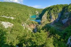 Fantastyczny widok w Plitvice jezior parku narodowym Zdjęcie Royalty Free