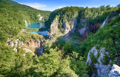 Fantastyczny widok w Plitvice jezior parku narodowym Fotografia Stock