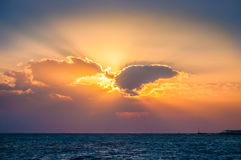Fantastyczny wschód słońca na morzu Fotografia Stock