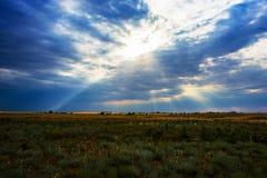 fantastyczny wytapiania 3 d chmury nieba słońce Obrazy Royalty Free