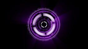 Fantastyka naukowa animowany interfejs różni kształty są płodozmienni na czarnym tle ilustracji