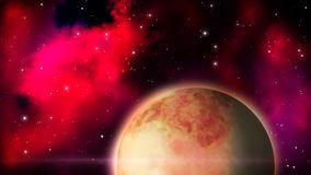 Fantastyka naukowa piaska planeta pętla ilustracji