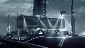 Fantastyka naukowa planetarna futurystyczna kolonia