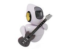 Fantastyka naukowa robota śliczna gitara Zdjęcia Stock