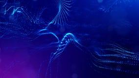 Fantastyka naukowa skład z oscylować świecące cząsteczki  zbiory wideo