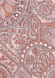 Fantasy abstract motif ornamental pattern Royalty Free Stock Photography