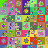Fantasy abstract multicolor patchwork backdrop,  cute image Stock Image