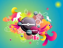 Fantasy abstract vector Stock Images
