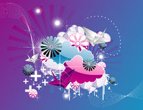 Fantasy abstract vector Royalty Free Stock Images
