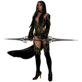 Fantasy Action Figure. 3d render of a fantasy action figure Royalty Free Stock Photo