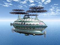 Fantasy Airship Stock Photography