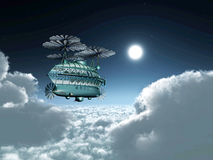 Fantasy Airship Royalty Free Stock Photo
