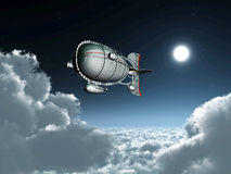Fantasy Airship Royalty Free Stock Photography