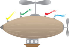 Fantasy Airship with flags Royalty Free Stock Image