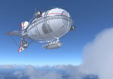 Fantasy Airship Zeppelin Dirigible Balloon 3D illustration. 3D illustration Fantasy airship Zeppelin Dirigible balloon Royalty Free Stock Photo
