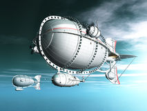 Fantasy Airships Royalty Free Stock Photos