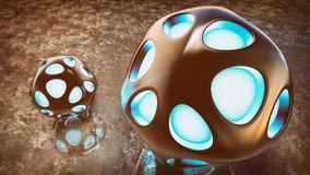 Fantasy Alien Abstract Sphere Royalty Free Stock Photos