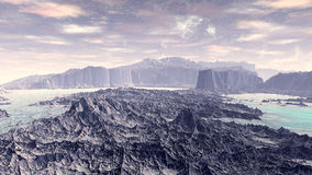 Fantasy alien planet. 3D rendering Royalty Free Stock Images