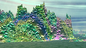 Fantasy alien planet. 3D rendering Royalty Free Stock Photo