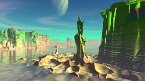Fantasy alien planet. 3D rendering Stock Image