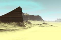 Alien Planet. Mountain. 3D rendering. Fantasy alien planet. Mountain. 3D illustration Royalty Free Stock Photography