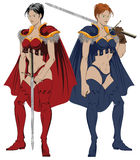 Fantasy amazons Royalty Free Stock Image