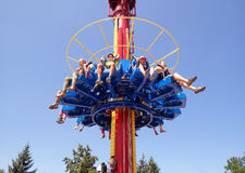The Fantasy Amusement park in Almaty Royalty Free Stock Photo