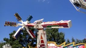 The Fantasy Amusement park in Almaty stock video footage
