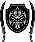 Fantasy Arabian Shield And Swords Royalty Free Stock Photography