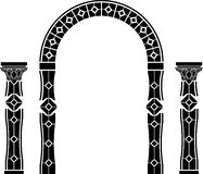 Fantasy arch and columns Royalty Free Stock Photo