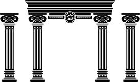 Fantasy arch and columns Royalty Free Stock Photos