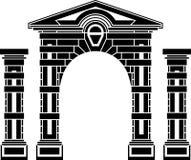 Fantasy arch and columns Royalty Free Stock Photos