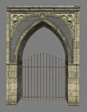 Fantasy arch with gate Royalty Free Stock Images