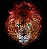 Fantasy art of a lion royalty free illustration