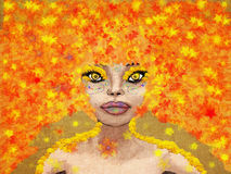 Fantasy autumn girl Royalty Free Stock Photos