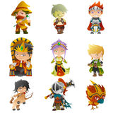 Fantasy avatar icons Royalty Free Stock Image
