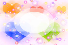 Fantasy background. Abstract creative symbolic image of fantasy background with hearts Royalty Free Stock Images