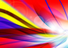 Fantasy background. The light in the red streamer flashing Stock Image